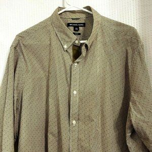 Michael Kors Long Sleeve Slim Fit Button Shirt XXL